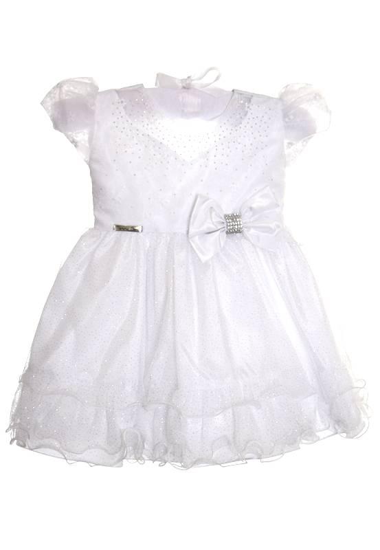 Vestido Branco com Glitter Luxo - G