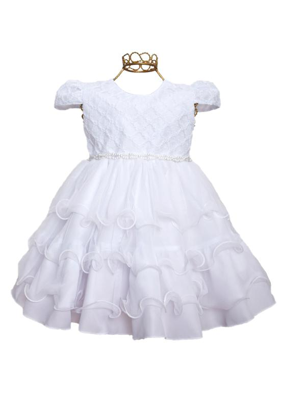 Vestido de Batizado Nelu Branco