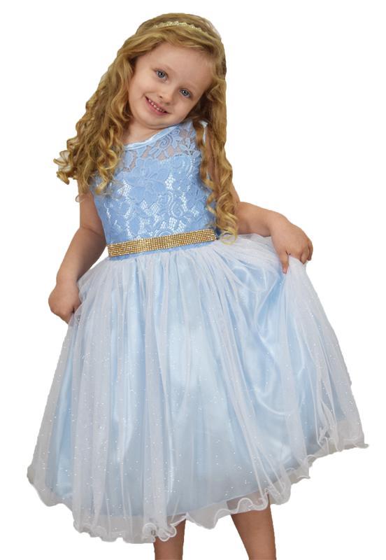 Vestido Princesa Azul Claro