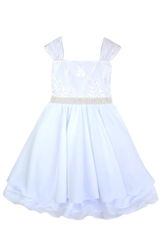 Vestido Festa Infantil Branco
