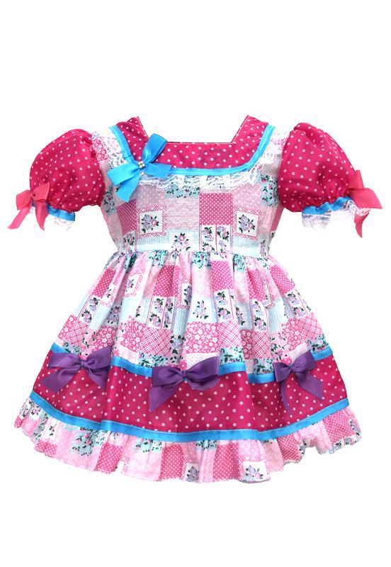 Vestido Festa Junina Bebê