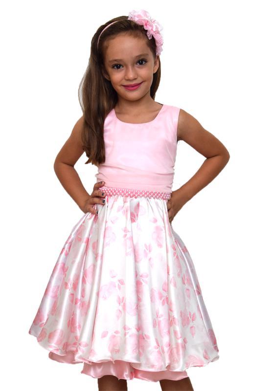 Vestido Floral Rosa 3-4