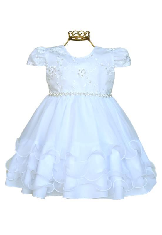 Vestido Infantil Batizado Branco