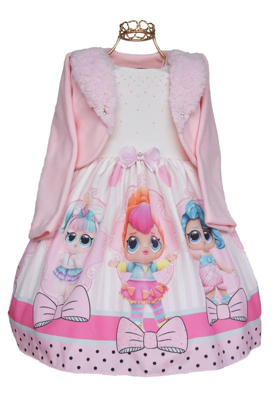 Vestido Infantil Bonequinhas