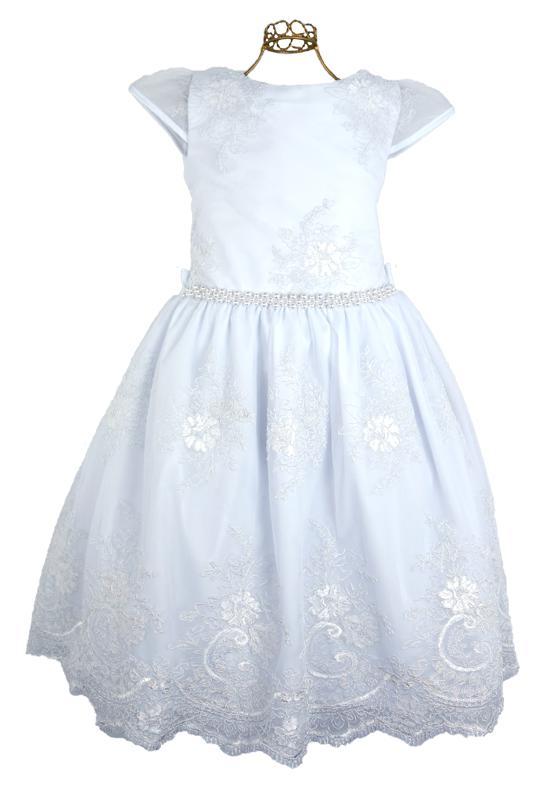 Vestido Infantil Branco Renda
