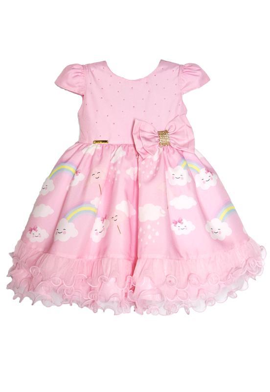 Vestido Infantil Chuva de Amor Rosa