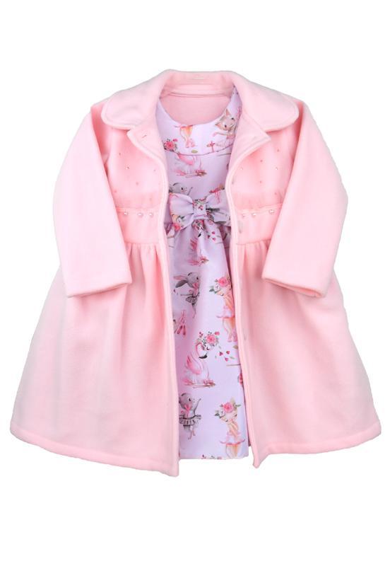 Vestido infantil com casaco