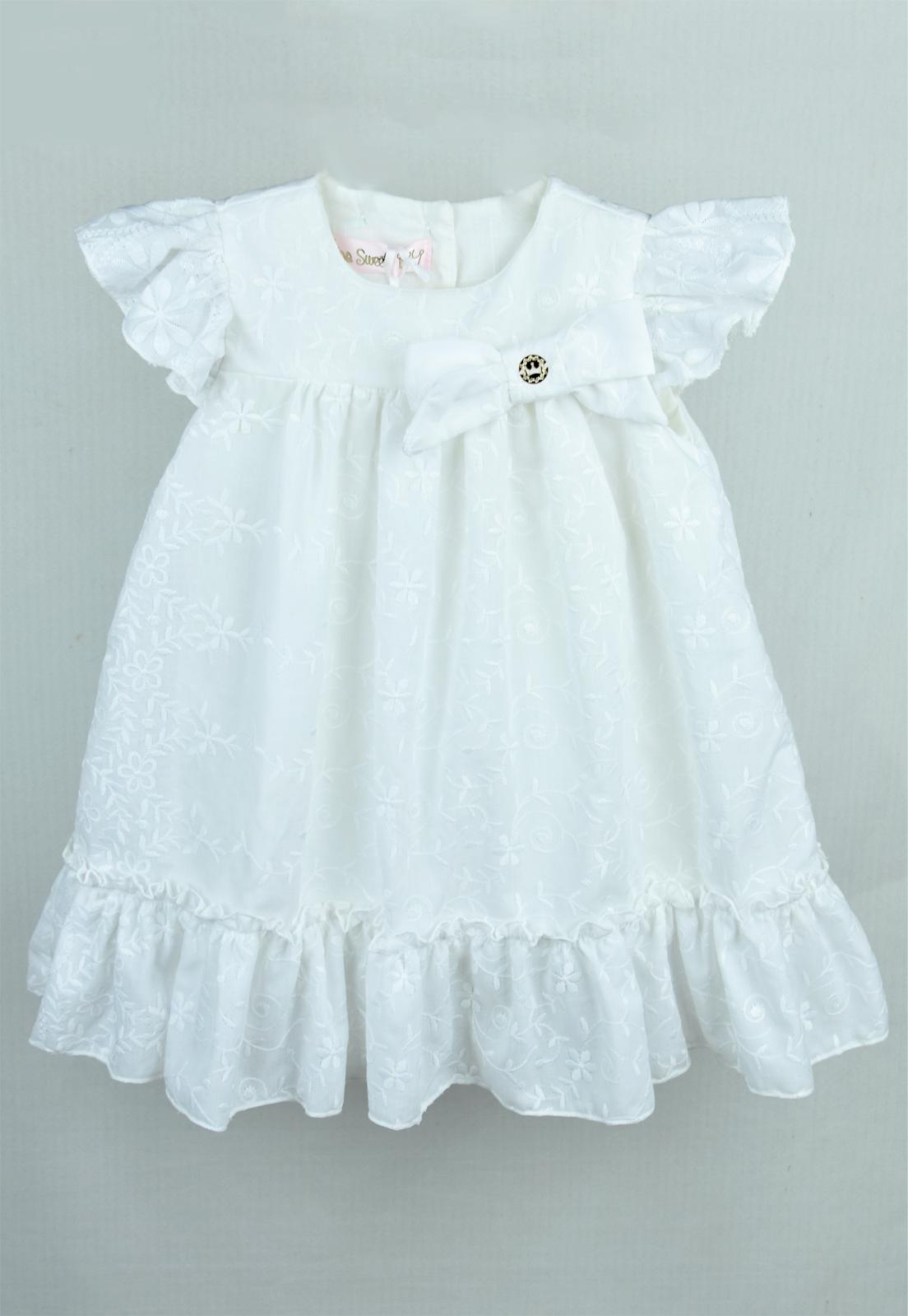 Vestido Infantil de Lese Branco