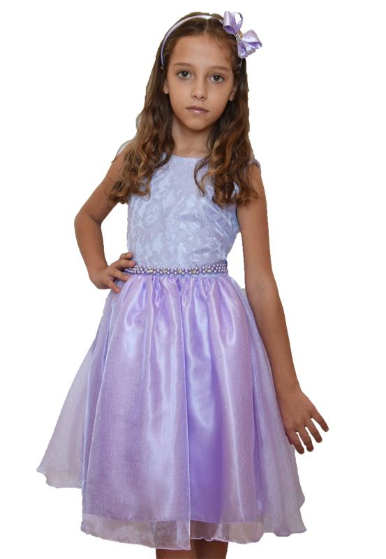 Vestido Infantil Festa Lilás