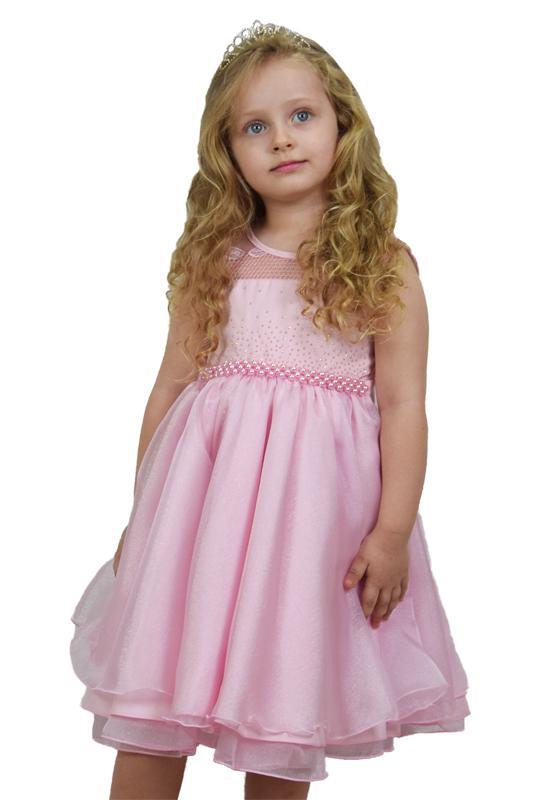 Vestido Infantil Festa Rosa