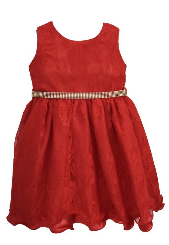 Vestido Infantil Festa Vermelho