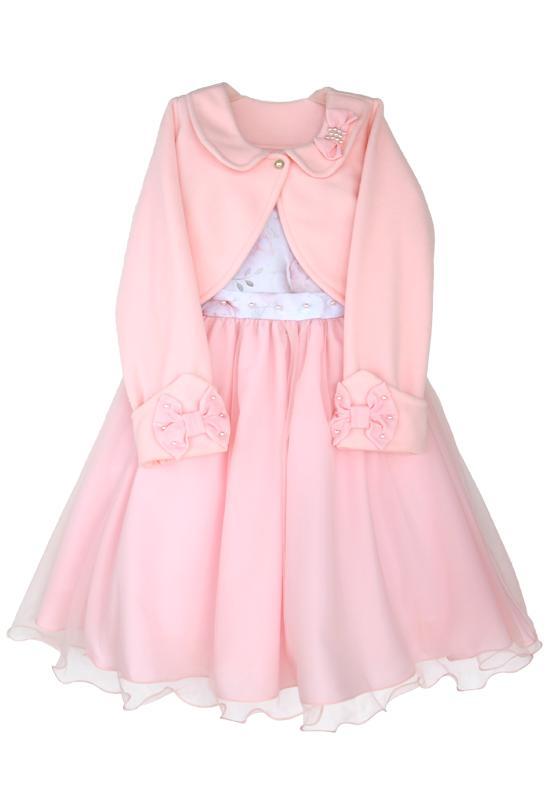 Vestido Infantil Floral com Bolero