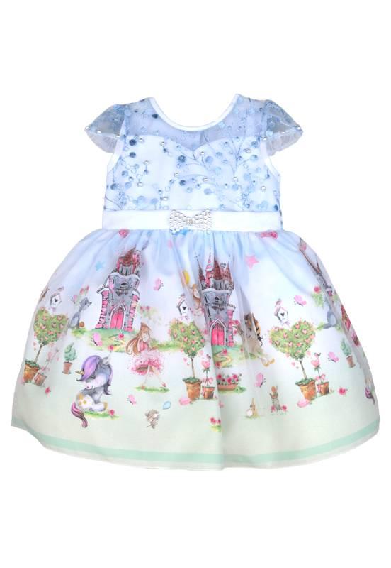 Vestido Infantil Floresta Jardim Encantado