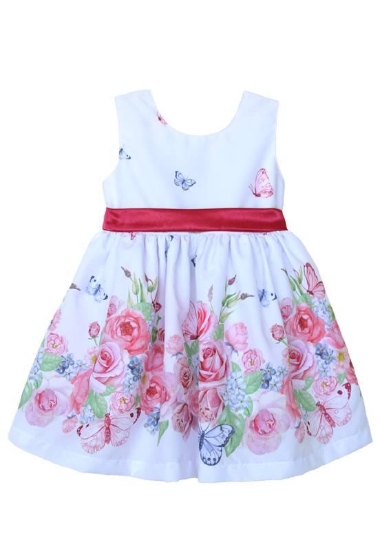 Vestido infantil Jardim Encantado Branco
