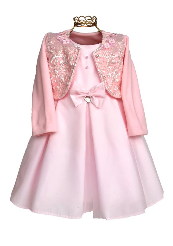 Vestido Infantil Rosa com Bolero