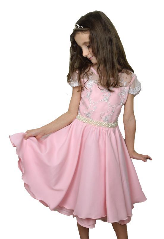 Vestido Infantil Rosa Festa