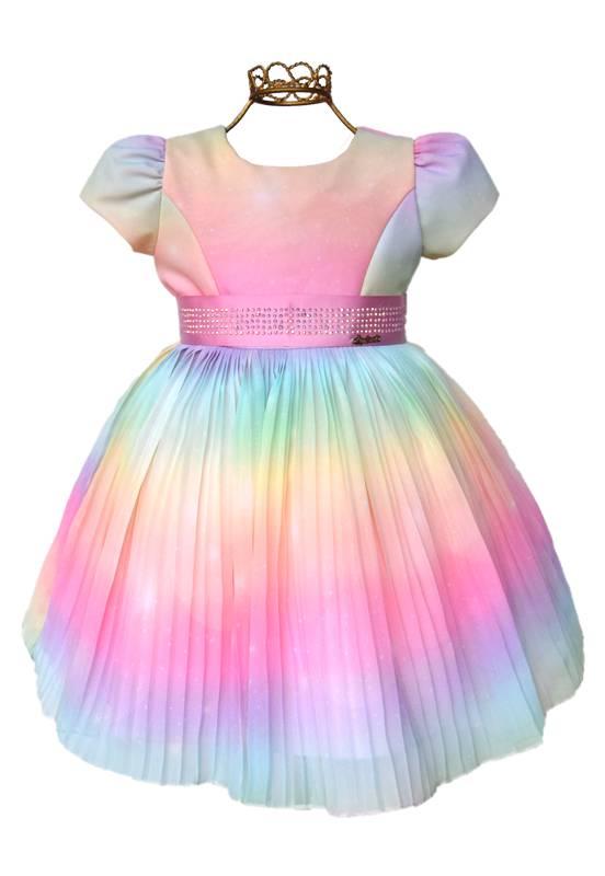 Vestido infantil Tie Dye Festa