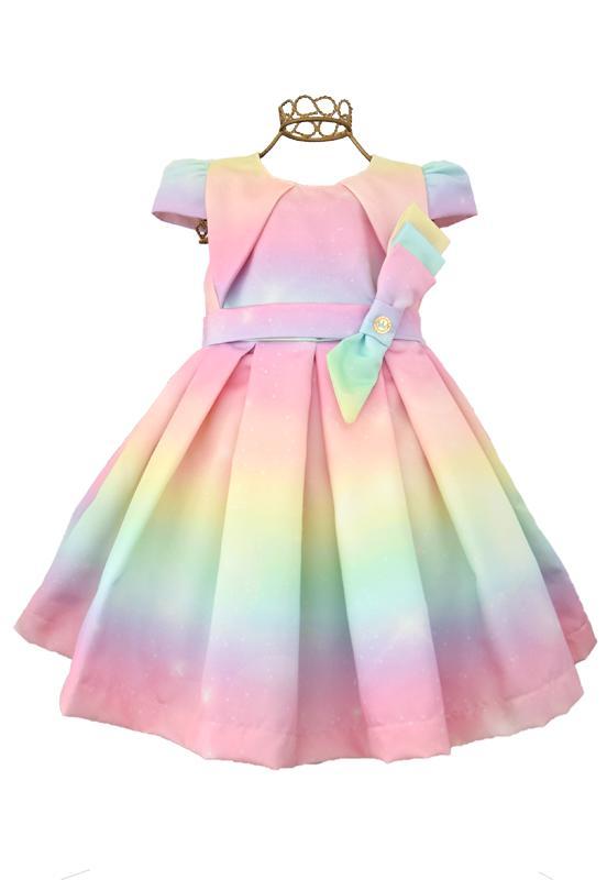 Vestido infantil Tie Dye Festa Miss
