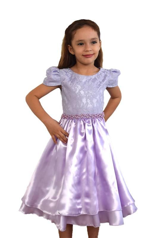 Vestido Lilás com renda (Sofia) - 4