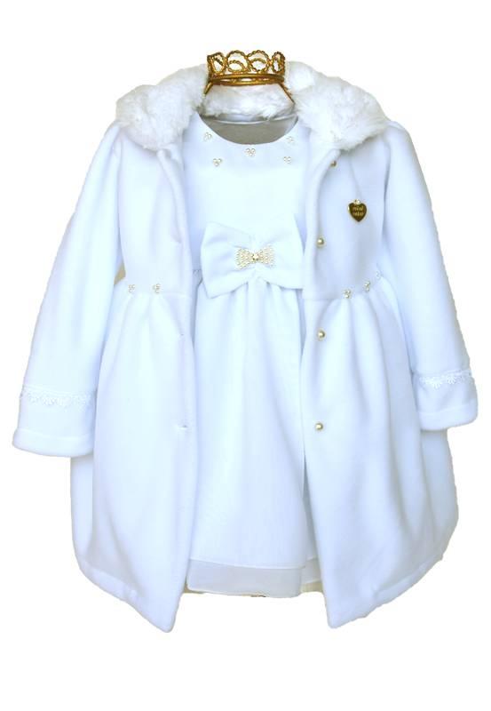 Vestido Mini Miss Branco com Casaco