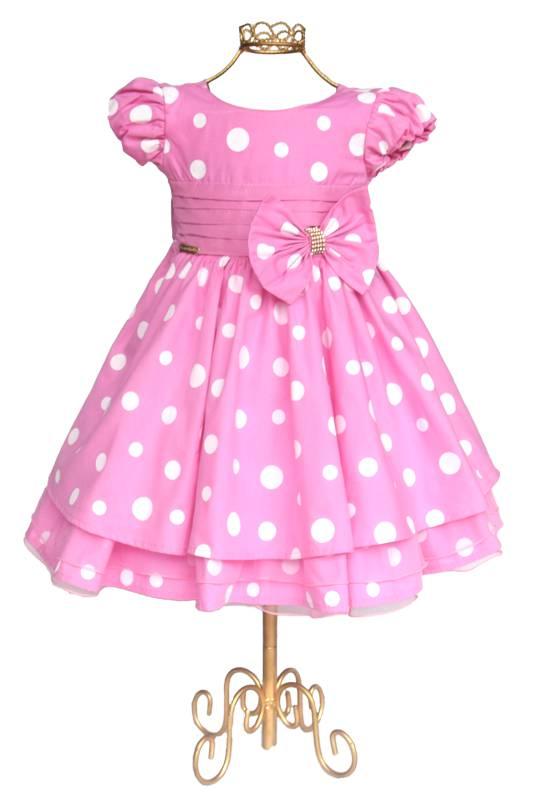 Vestido Minnie Rosa Luxo