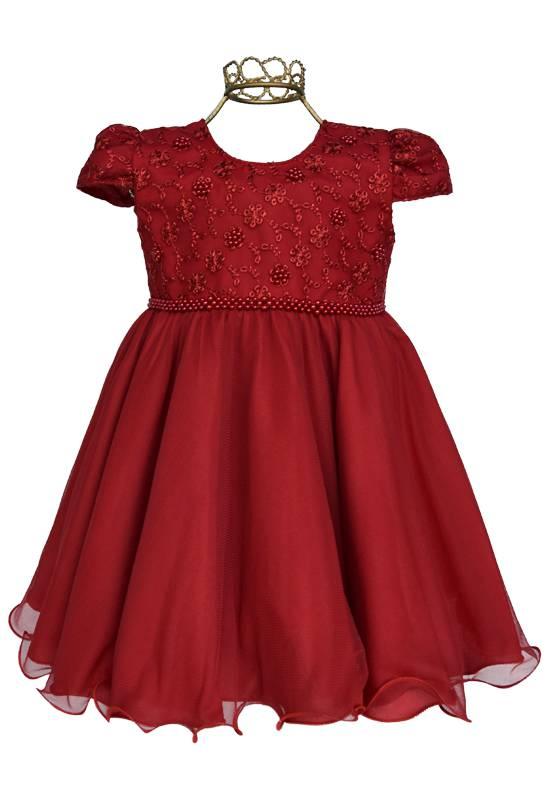 Vestido para Bebê Vermelho