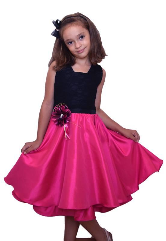 Vestido Pink e Preto - 4