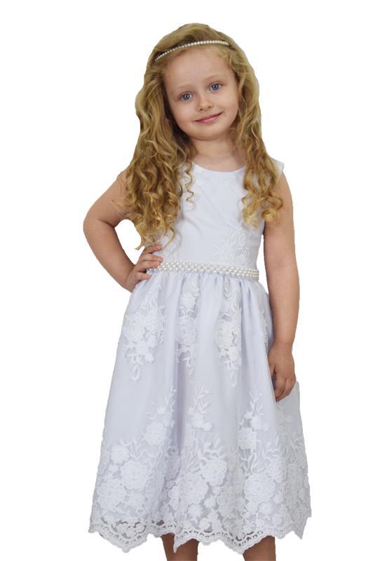 Vestido Rendado Clássico Branco - 4