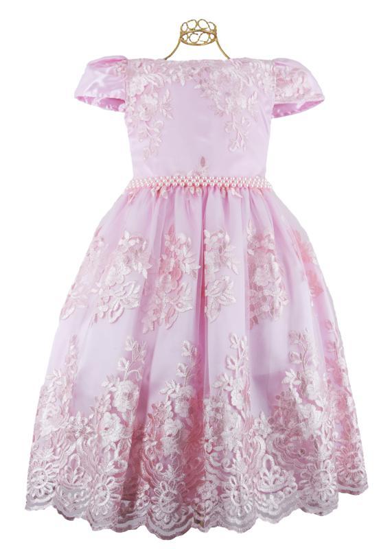 Vestido Rendado Rosa