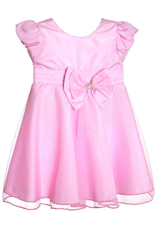 Vestido Rosa com Gliter -1