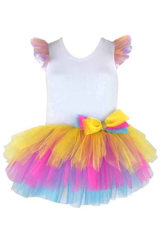 Vestido Tutu Rainbow