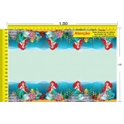 Tecido Temático - A Pequena Sereia: Ariel 1,0x1,5 #82