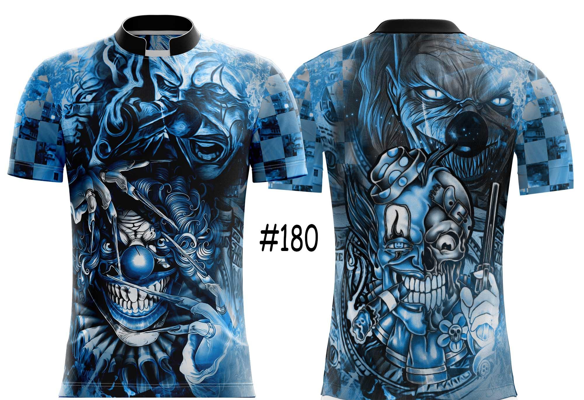 CAMISETA DE QUEBRADA BLUE CLOWN #180