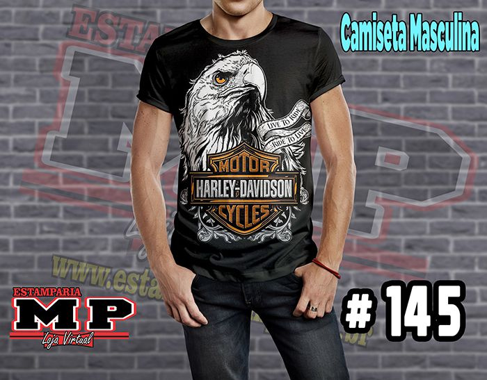 CAMISETA MASCULINA CARTOON  harley davidson #145
