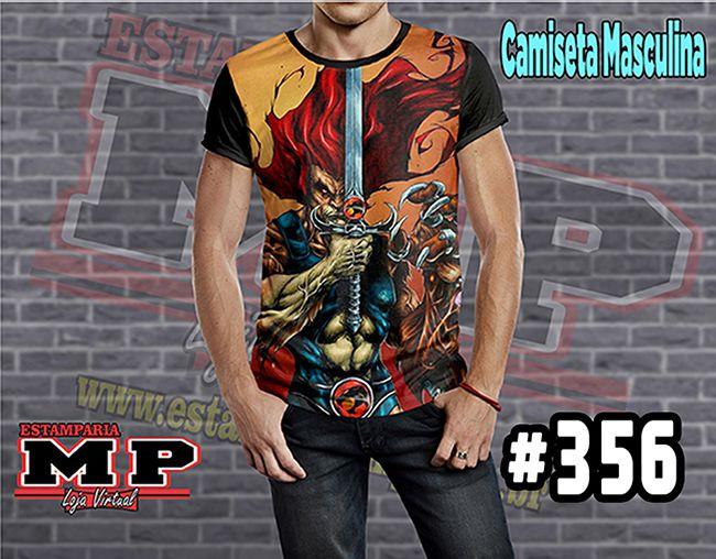 CAMISETA MASCULINA CARTOON HOMER thundercats #356