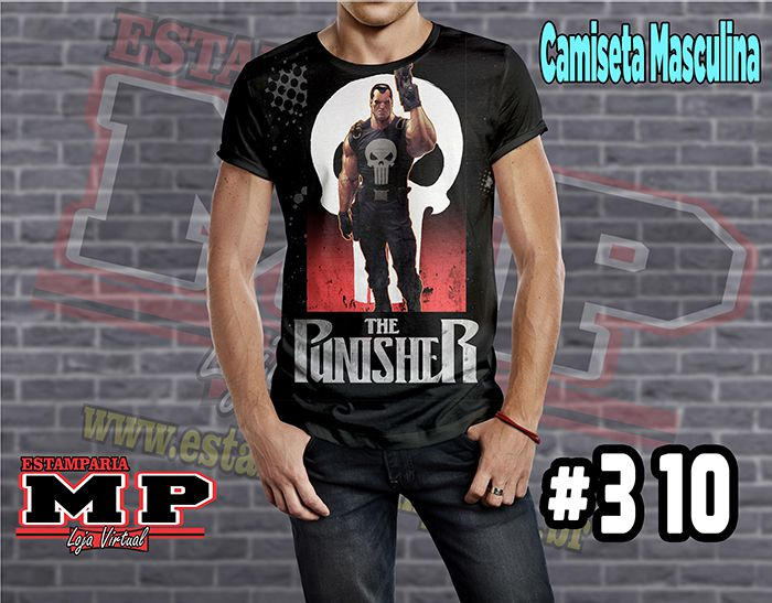 CAMISETA MASCULINA CARTOON  the punisher #310