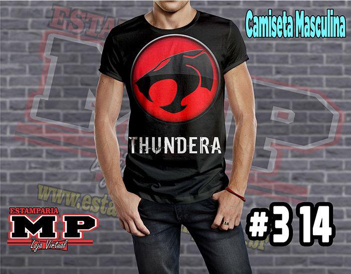 CAMISETA MASCULINA CARTOON thundercats #314