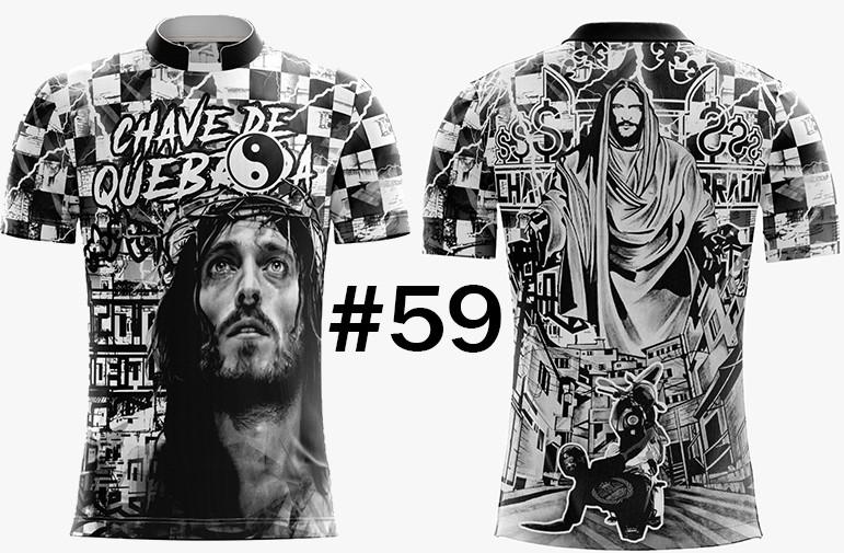 CAMISETA MASCULINA CHAVE DE QUEBRADA JESUS CRISTO #59
