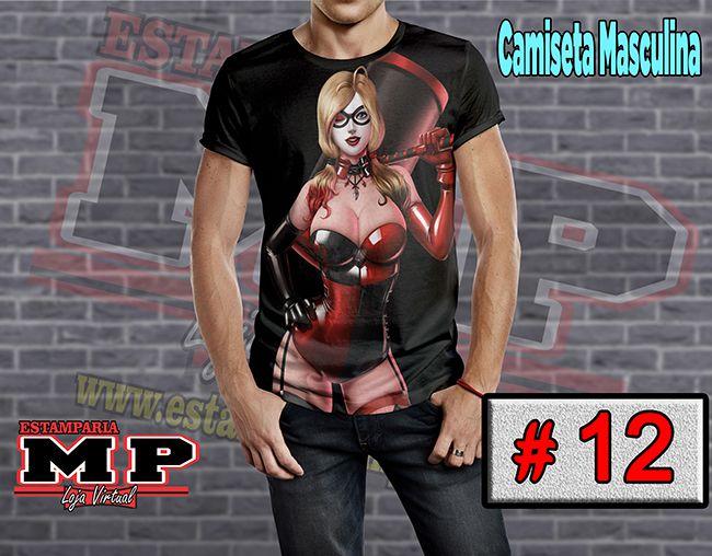 CAMISETA MASCULINA CORINGA ARLEQUINA #12