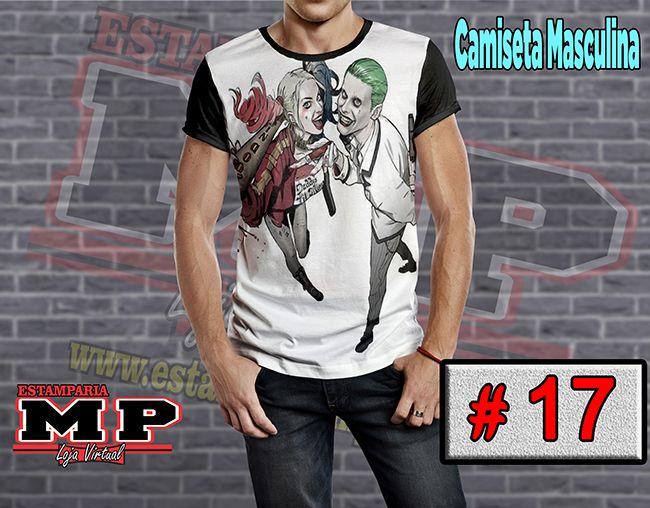 CAMISETA MASCULINA CORINGA ARLEQUINA #17