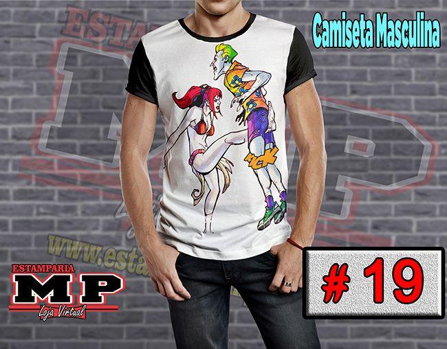 CAMISETA MASCULINA CORINGA ARLEQUINA #19