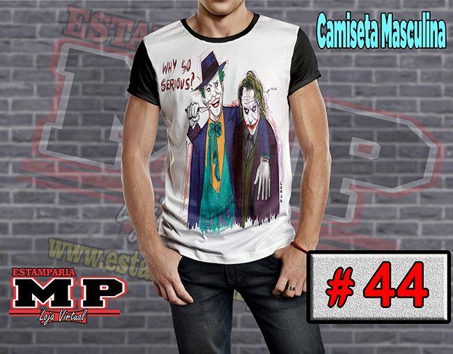 CAMISETA MASCULINA CORINGA ARLEQUINA #44