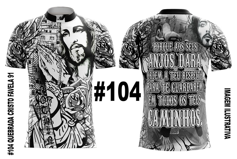CAMISETA MASCULINA QUEBRADA JESUS CRISTO SALMOS 91 #104