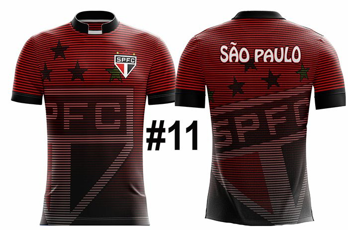 CAMISETA MASCULINA SÃO PAULO TRICOLOR #11