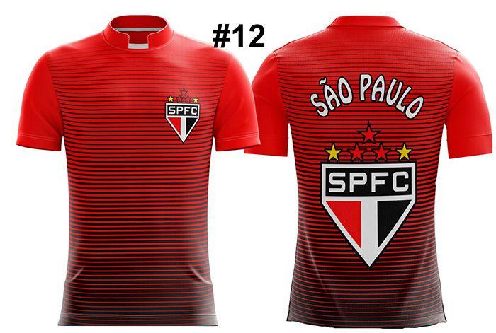 CAMISETA MASCULINA SÃO PAULO TRICOLOR #12