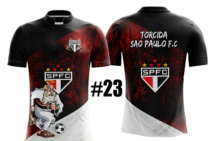 CAMISETA MASCULINA SÃO PAULO TRICOLOR #23