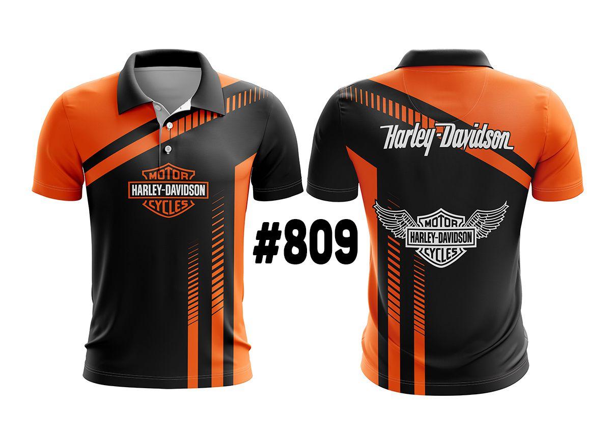 CAMISETA POLO MASCULINA HARLEY DAVIDSON #809