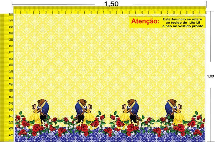Tecido Temático - A Bela e a Fera 1,0x1,5 #84