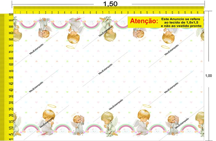 Tecido Temático - Anjinho 1,0x1,5 #154