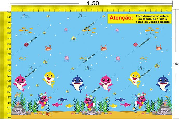 Tecido Temático - Baby Shark 1,0x1,5 #01